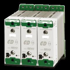 Типоразмер SR5 – В 121 x Ш 108 x Г 125 – 1.32 Кг. Номинальный ток 30-40А